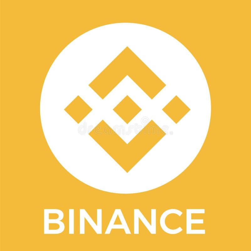 Intercambio del cryptocurrency de Binance BNB y logotipo anaranjado del vector de la moneda del blockchain ilustración del vector