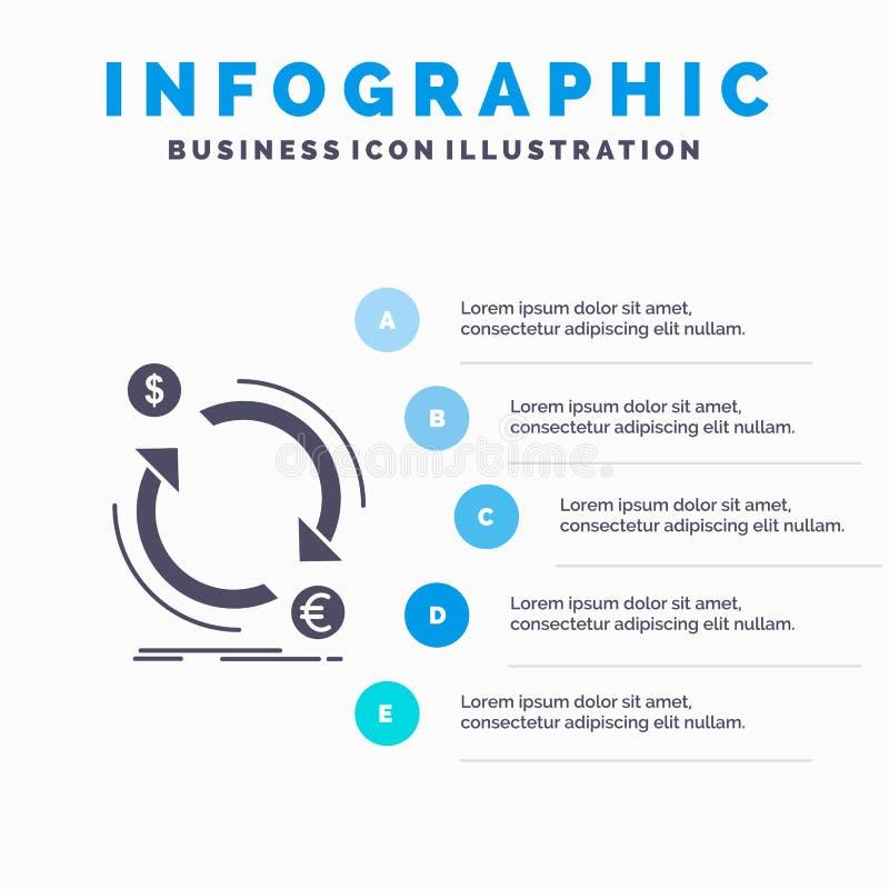 intercambio, moneda, finanzas, dinero, plantilla de Infographics del convertido para la p?gina web y presentaci?n Icono gris del  libre illustration