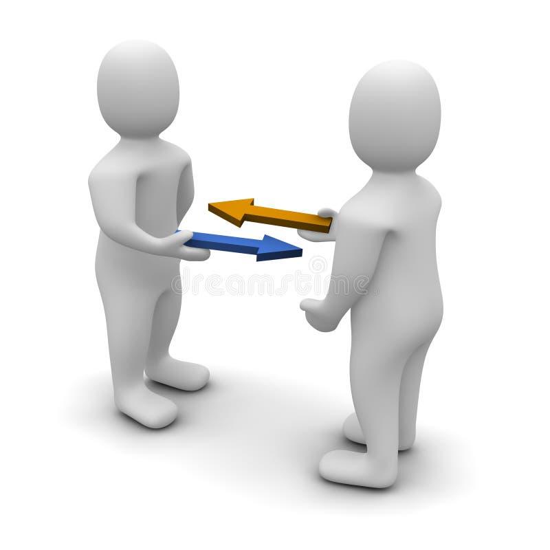 Intercambio o comercio stock de ilustración