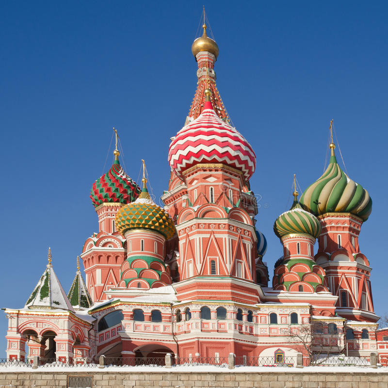 Intercession Cathedral, Moscow royalty free stock photo