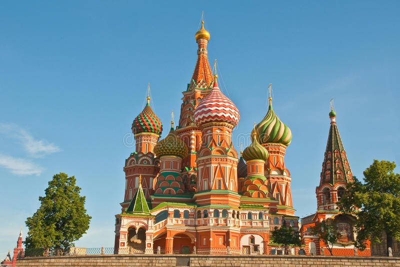 Intercession Cathedral on Red Square, Moscow stock photography