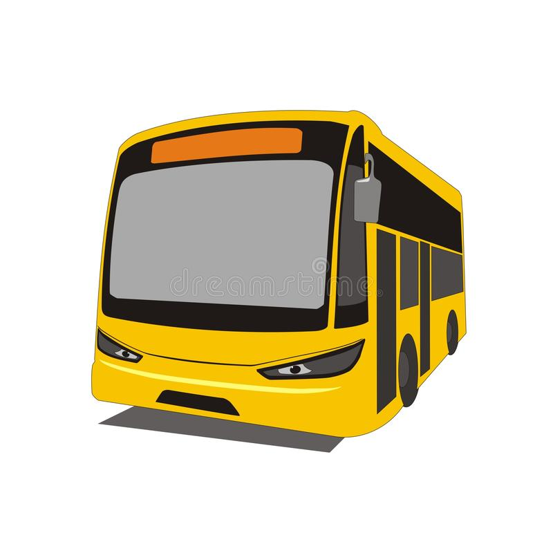 Intercity bus royalty free illustration