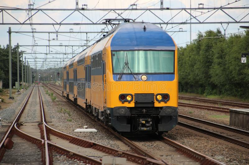 Intercity train V-IRM at the station of `t Harde between Utrecht and Zwolle. royalty free stock images