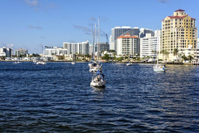 Intercoastal Wasserstraße des Fort Lauderdale lizenzfreie stockfotografie