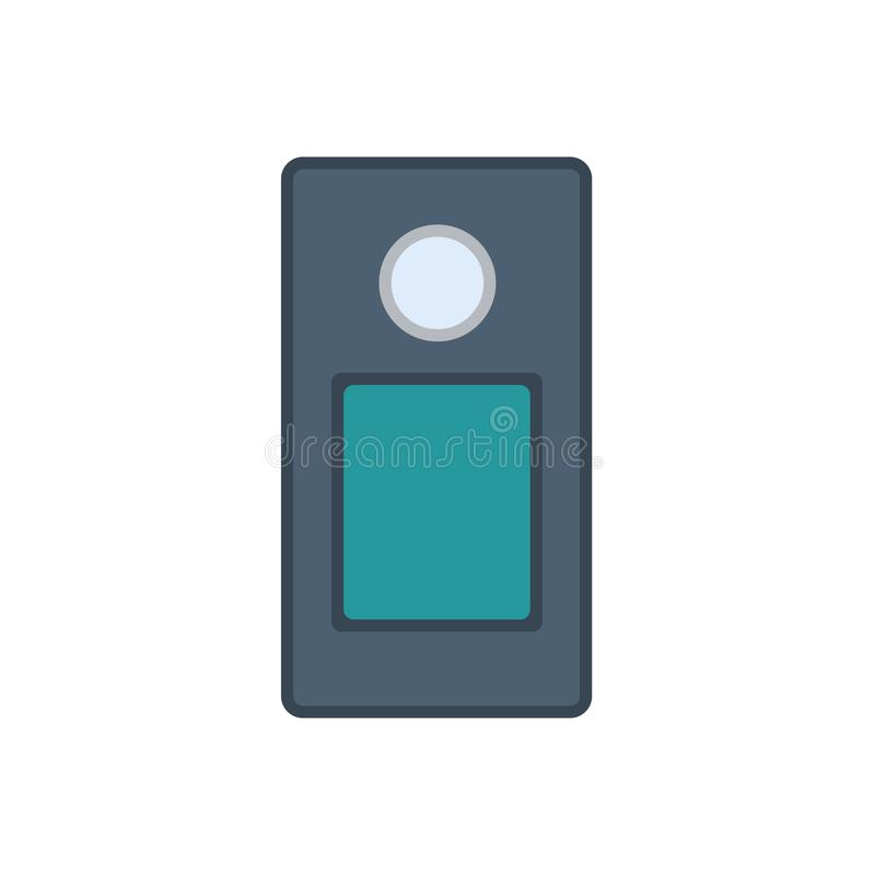 Intercom system vector icon home security. House door control isolated. Safety access protection alarm entrance bell royalty free illustration