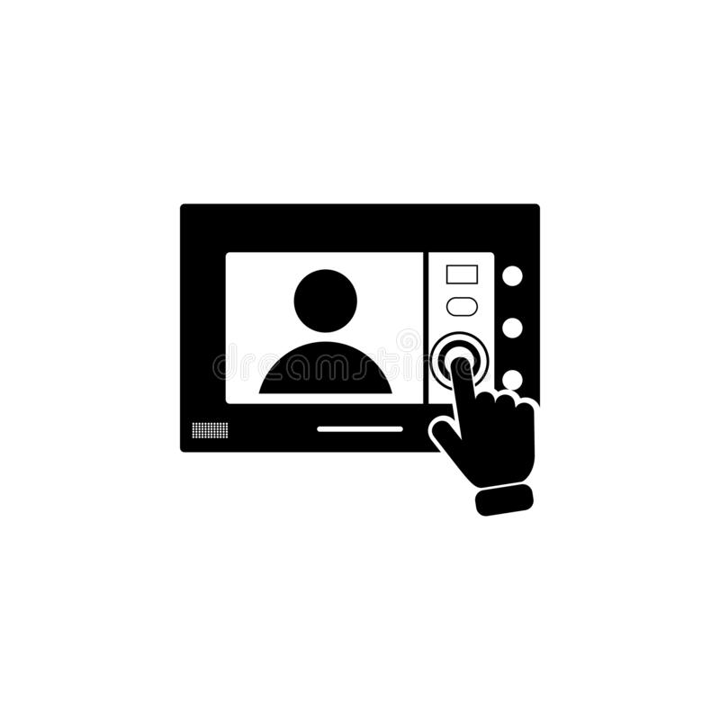 Intercom touch screen icon. Element of touch screen technology icon. Premium quality graphic design icon. Signs and symbols collec. Tion icon for websites on stock illustration