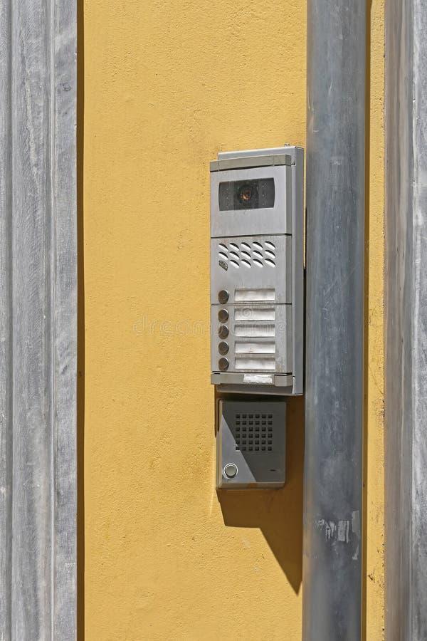 Intercomcamera stock afbeeldingen