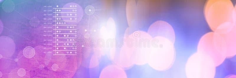 Interconecte la capa de los gráficos de las estadísticas de la conexión con la transición chispeante del bokeh de las luces libre illustration