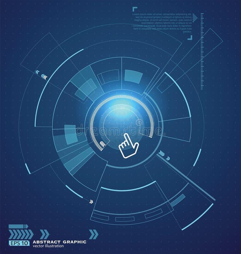 Interconecte la tecnología, el futuro de la experiencia del usuario libre illustration