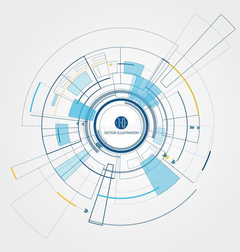 Interconecte la tecnología, el futuro de la experiencia del usuario ilustración del vector