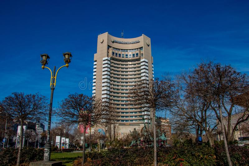 The Intercontinental Hotel in Bucharest Romania royalty free stock image