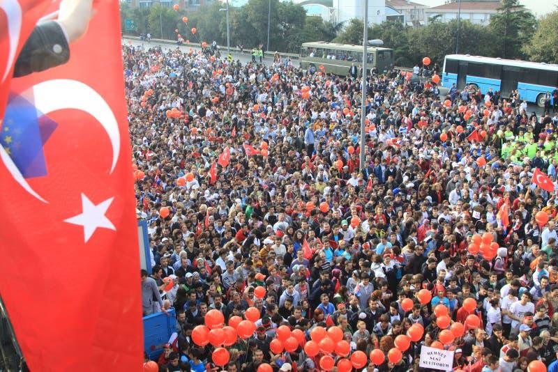 Intercontinental Istanbul Eurasia Marathon Editorial Stock Photo
