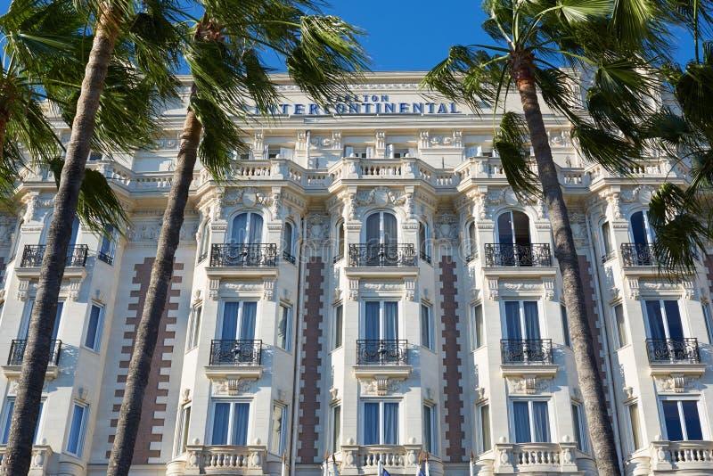 intercontinental lyx för cannes carltonhotell royaltyfri bild