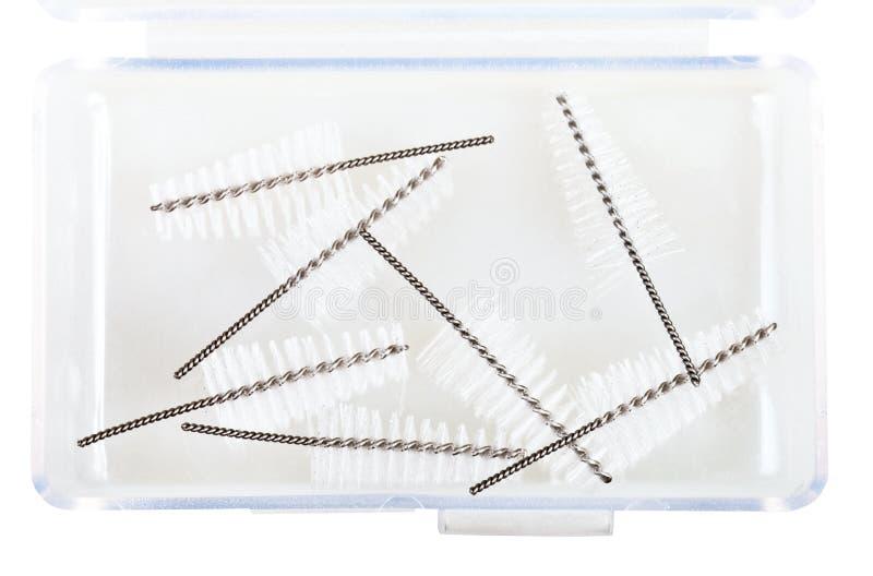 Interdental Refills щетки в пластичной коробке стоковое фото
