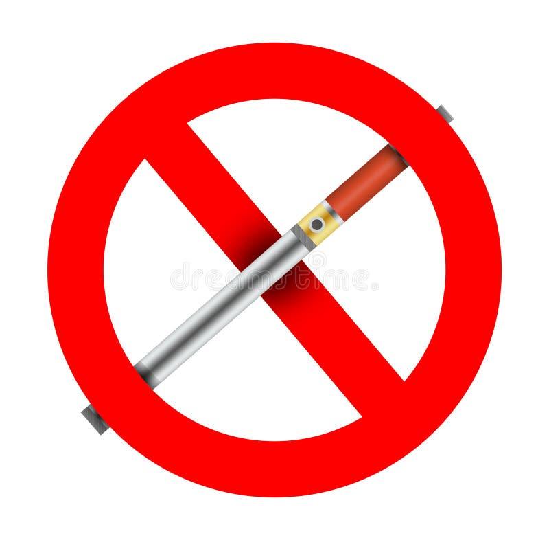 interdiction d'E-cigarette illustration de vecteur