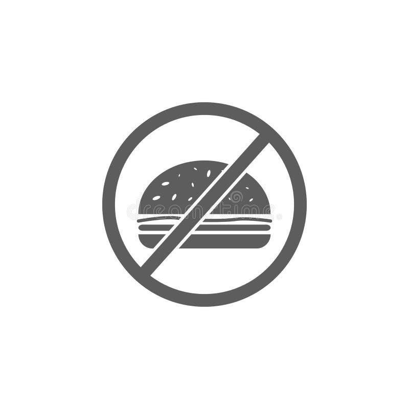 interdiction d'icône d'aliments de préparation rapide Élément de sport pour les apps mobiles de concept et de Web Icône pour la c illustration de vecteur