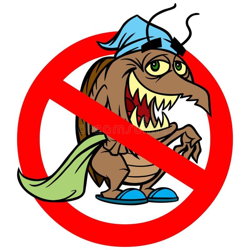 Interdiction d'insecte de lit illustration libre de droits