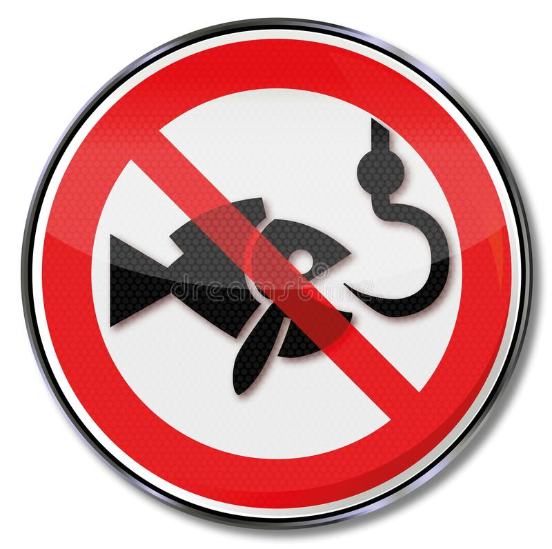 Interdiction d'interdiction pour la pêche illustration libre de droits
