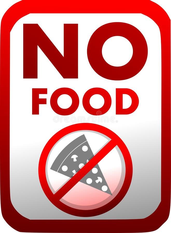 Interdiction de l'introduction de la nourriture en rouge d'isolement illustration de vecteur