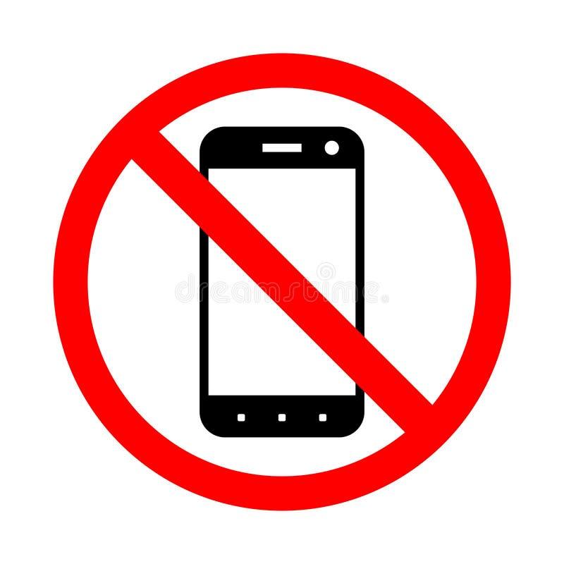 Interdiction de l'utilisation d'un téléphone portable illustration libre de droits