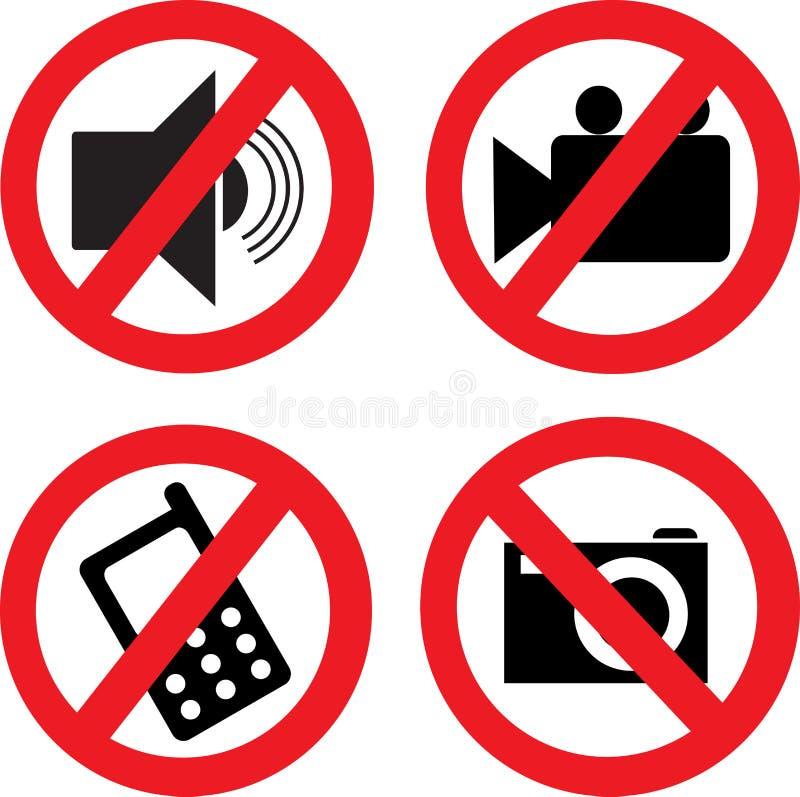 Interdiction des icônes. illustration libre de droits