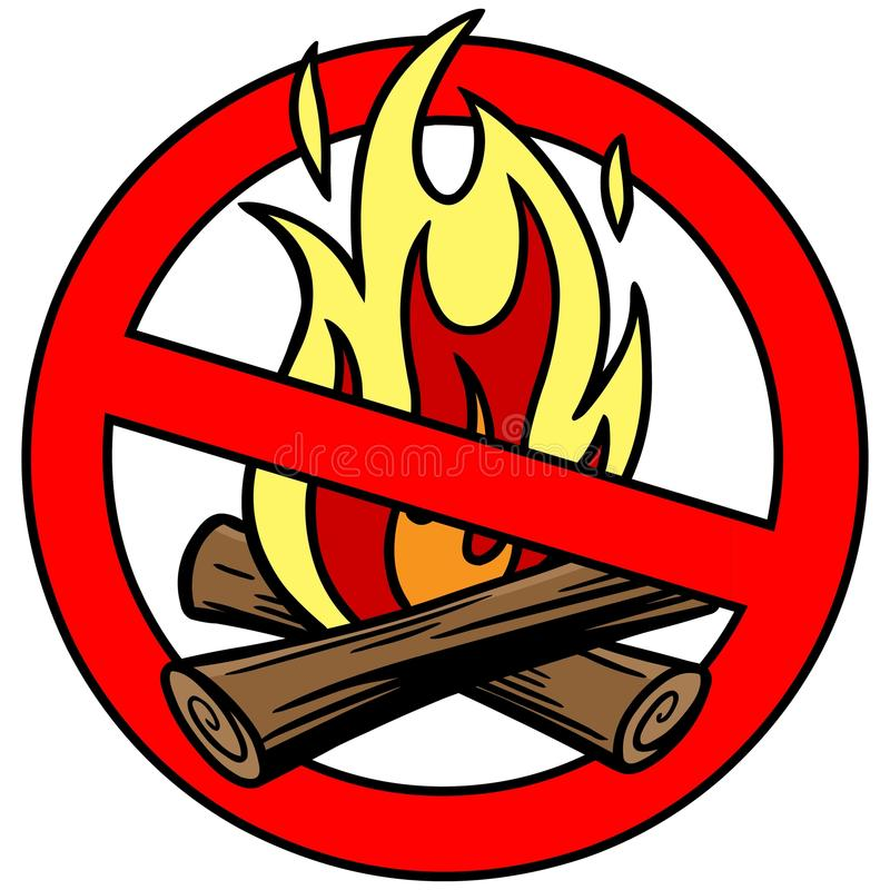 Interdiction du feu illustration de vecteur