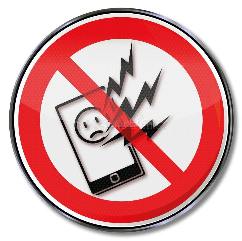 Interdiction pour le smartphone et aucun filet illustration de vecteur