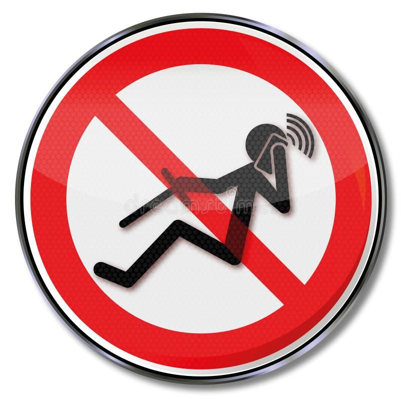 Interdiction pour téléphoner tout en conduisant illustration stock