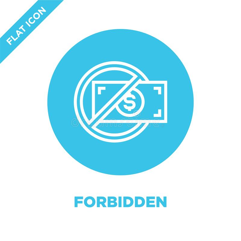 _interdire icône vecteur corruption élément collection Ligne mince illustration interdite de vecteur d'icône d'ensemble Symbole l illustration libre de droits