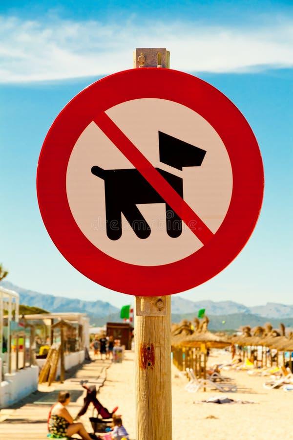 On interdit des chiens illustration de vecteur