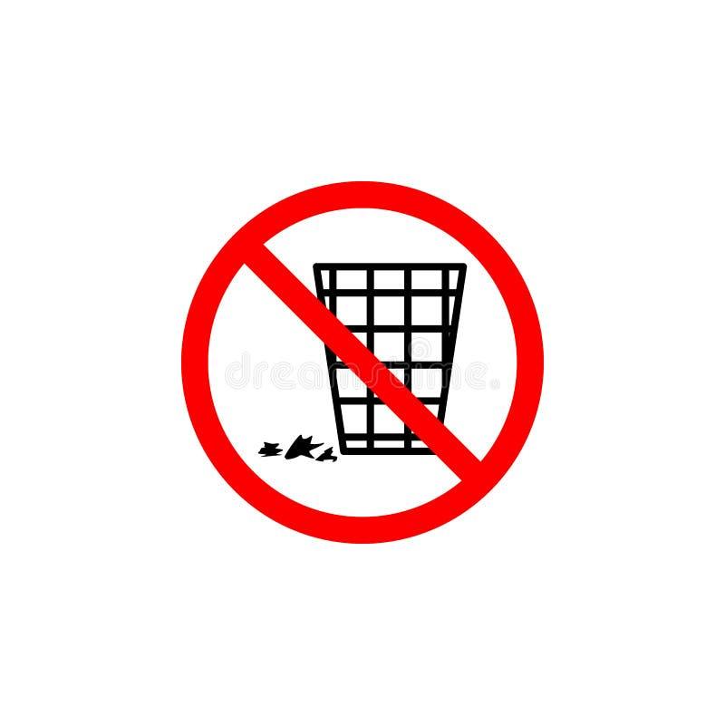 Interdit polluez l'icône sur le fond blanc peut être employé pour le Web, logo, l'appli mobile, UI UX illustration de vecteur