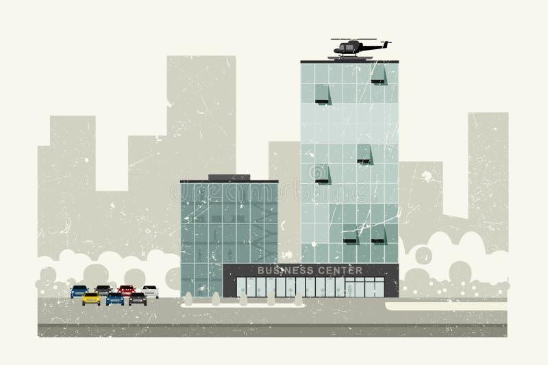 interes wysoki nowoczesny budynek drapacz chmur ilustracji
