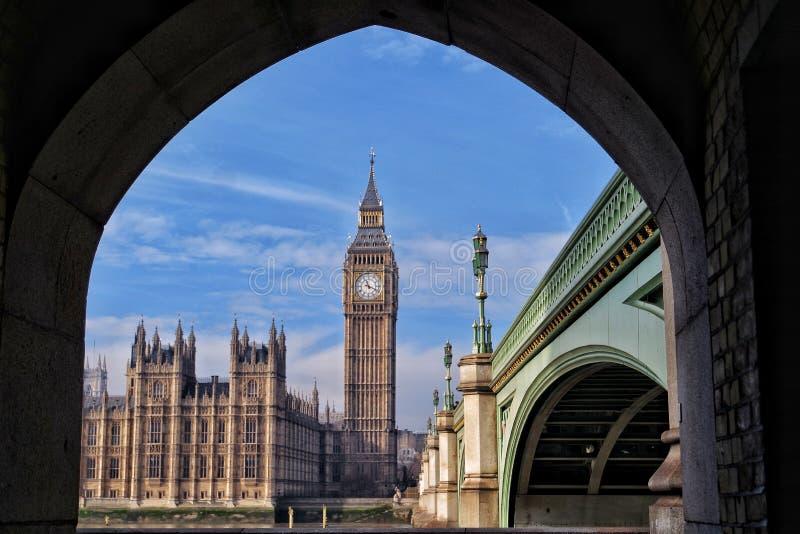 Interessante Ansicht zu Big Ben stockfoto