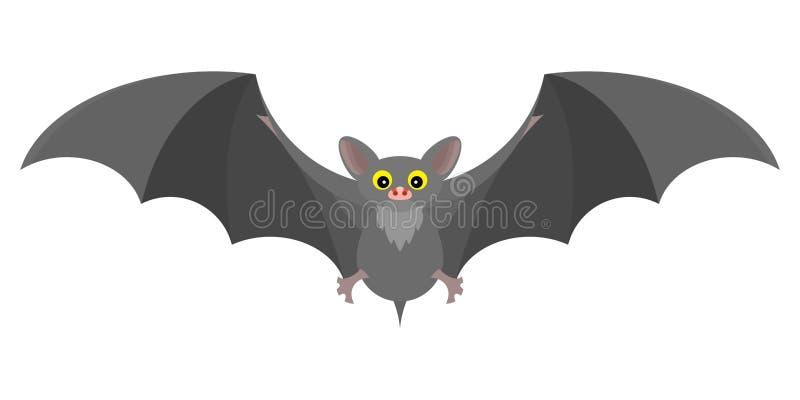 Interessante pianamente favoloso mistico grigio del pipistrello Immagine di riserva royalty illustrazione gratis
