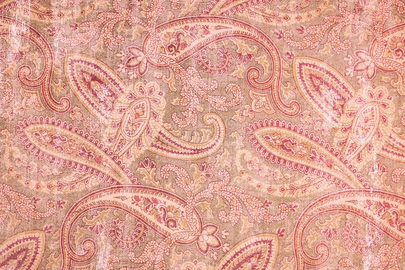 Interessante roze Paisley gevormde achtergrond royalty-vrije stock afbeelding