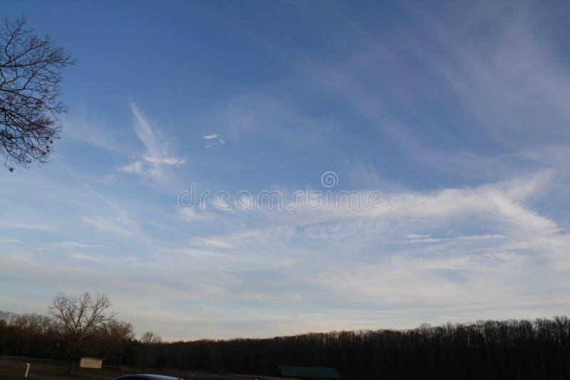 Interessante Wolken stockfotos