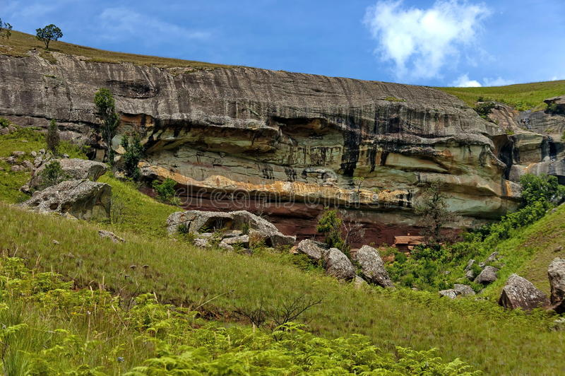Interessanter Sedimentgestein in Giants-Schloss stockfotos