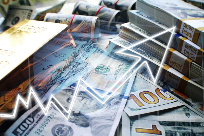 Interesse composto que cresce seu dinheiro de alta qualidade ilustração royalty free
