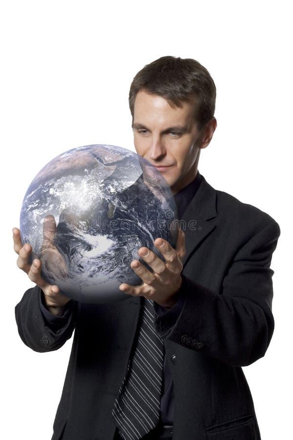 Interesses de negócio global fotografia de stock