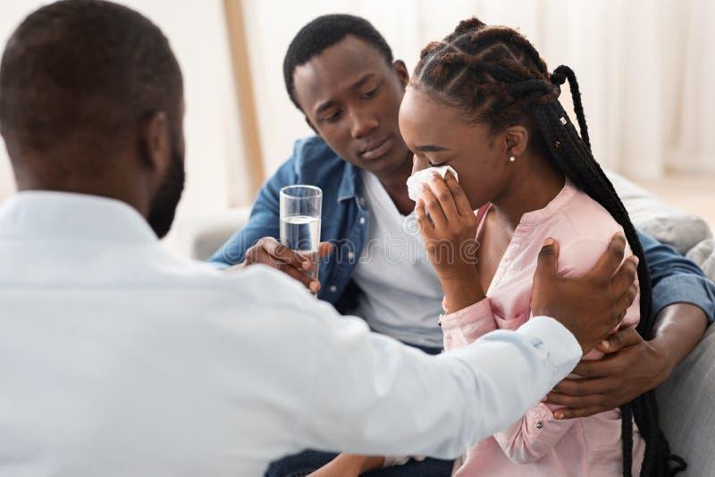 Familientherapie Schwarzer Teenager