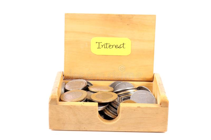 Interest. Beautiful shot of interest money royalty free stock images