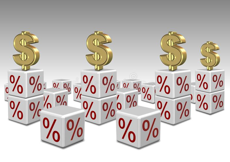 Interest Rates High And Low Stock Photos