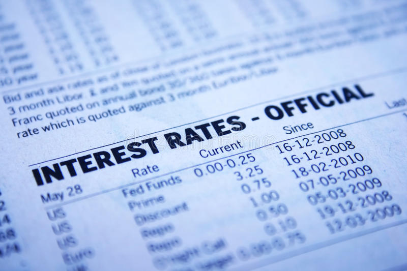 Interest rates - officall royalty free stock photos