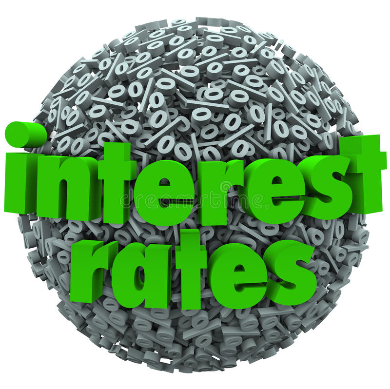 Free Interest Rates Percent Sign Symbol Sphere Mortgage Loan Stock Photo - 31841460