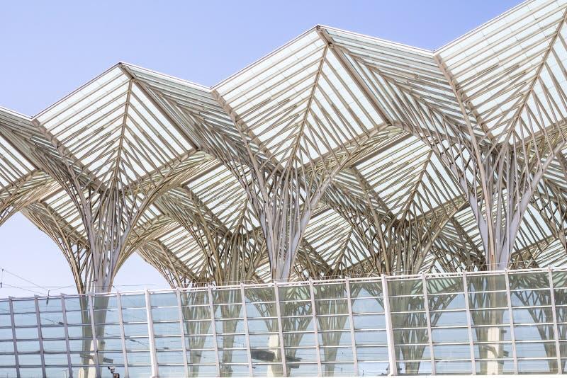 Interesting architecture at Lisbon railway station, Portugal. Interesting architecture at Lisbon railway station in Portugal royalty free stock images