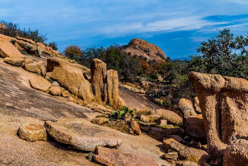 Interesting Boulders of Enchanted Rock, Texas. stock photo