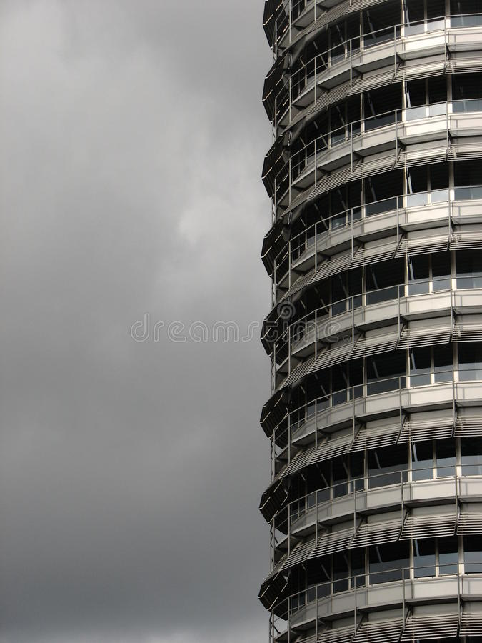 Interesting building. A very interesting building's facade on a cloudy day in Amsterdam royalty free stock photo