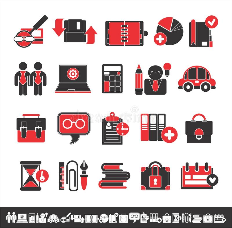 Interesting business icons vector illustration