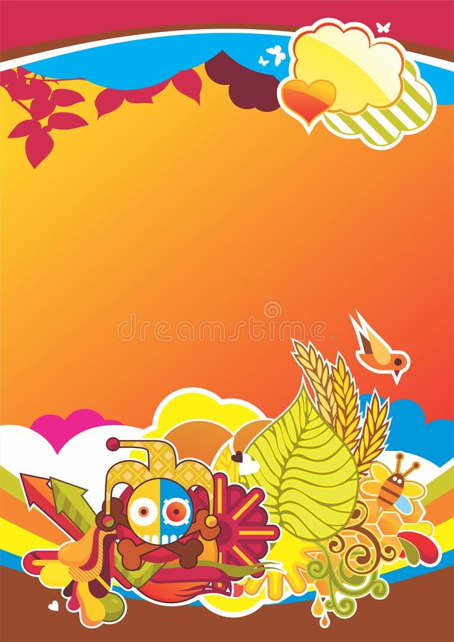 Download Interesting Composition With Cartoon Cha Stock Vector - Illustration: 17248500