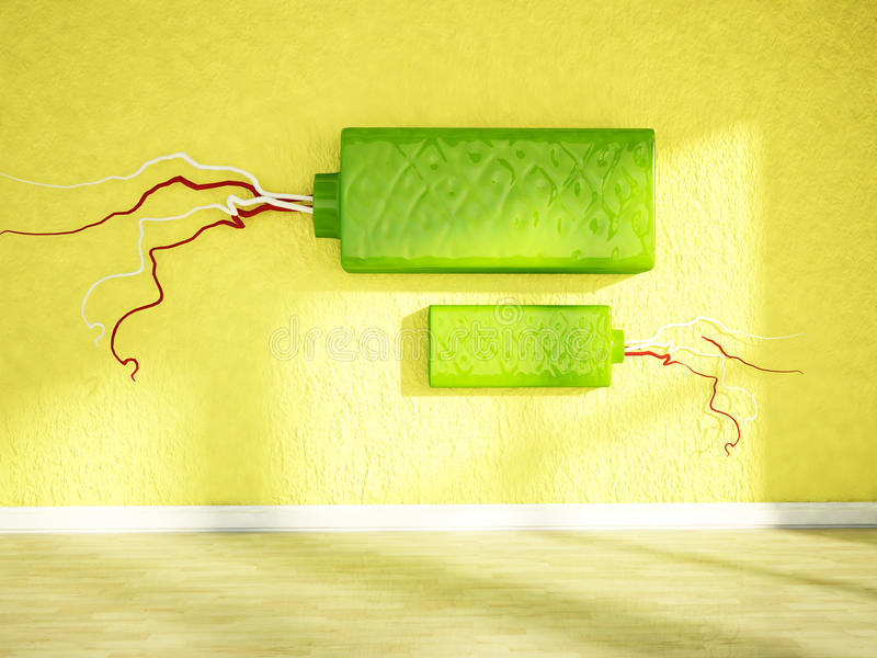 Download Interesting Decors On The Wall Stock Illustration - Image: 41953691
